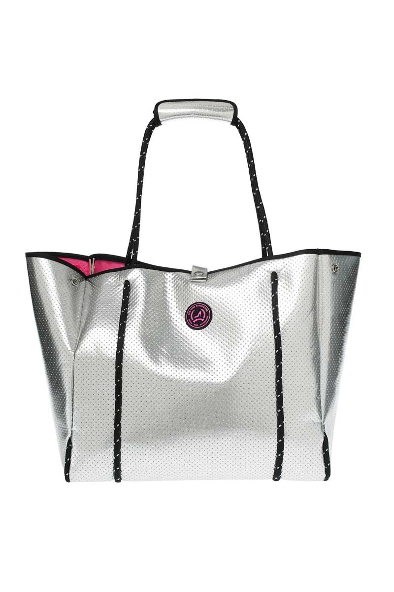 529ae3d1f4b Grote Shopper All Time Favourites Neoprene Zilver I Farfallina.nl