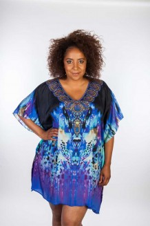 Kaftan Dresskini Resort Purple Black
