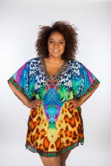 Kaftan Dresskini Resort Tiger Yellow