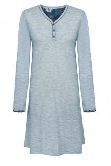 Nachthemd lange mouw Cybèle lichtblauw
