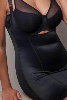 Corrigerend hemd Plaisir zwart
