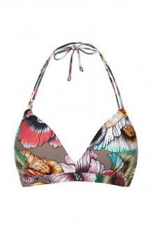 Halter bikini top Beachlife California Poppies 2