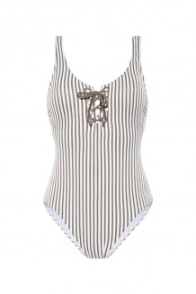Badpak Beachlife Taupe Stripe