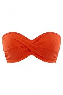 Voorgevormde bandeau bikini top Panache Echo Orange