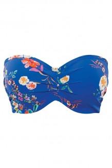 Voorgevormde bandeau bikini top Panache Florentine kobalt