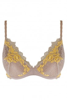 Plunge push up BH Wacoal Lace Perfection taupe