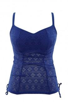Balconnet tankini top Panache Anya Crochet blauw