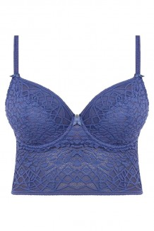Longline BH Freya Soiree Lace denim