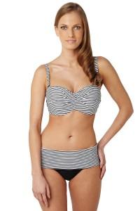 Panache Anya Stripe voorgevormde bandeau bikinitop