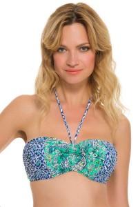 Gottex Profile Blush Urban Jungle voorgevormde bandeau bikinitop