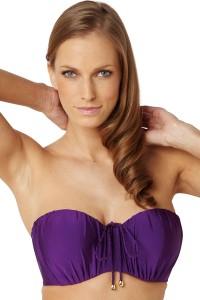 Panache Marina voorgevormde bandeau bikinitop paars