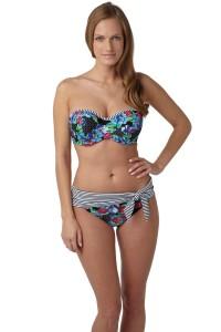 Panache Elle voorgevormde bandeau bikinitop