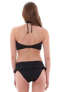 Freya Remix voorgevormde bandeau bikinitop zwart